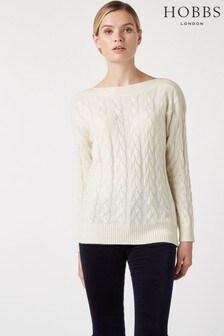 Hobbs White Jenny Sweater