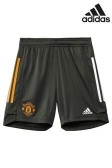 adidas Green Manchester United 20/21 Training Shorts