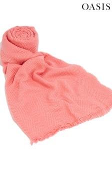 Oasis Pink Tia Textured Scarf