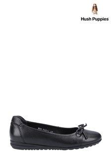 Hush Puppies Black Jolene Slip On Shoes