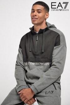 Emporio Armani EA7 Grey Block Hoody