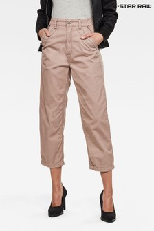 G-Star Pink Army City Mid Boyfriend Straight Trousers