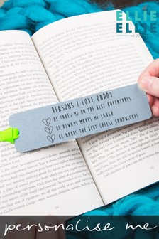 Personalised Reasons Why I Love You Bookmark by Ellie Ellie