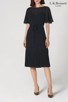 L.K.Bennett Black Boe Midi Dress