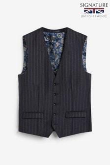Signature Stripe Suit: Waistcoat