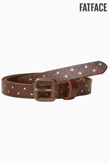 FatFace Brown Metallic Star Belt
