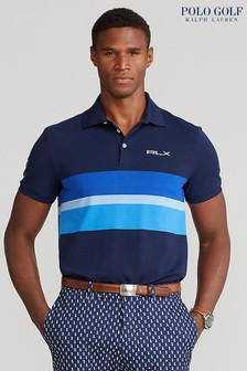 Polo Golf by Ralph Lauren Navy Multi Stripe Short Sleeve Sport Polo