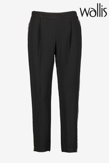 Wallis Black Petite Embellished Trousers