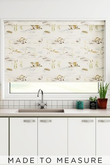Wildlife Otter Natural Made To Measure Roller Blind