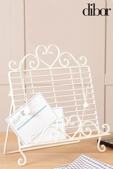 Country Cream Heart Cook Book Stand by Dibor