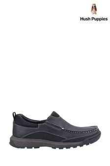 Hush Puppies Black Duncan Slip On Shoes