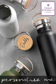 Personalised Bamboo Drinks Bottle by Treat Republic