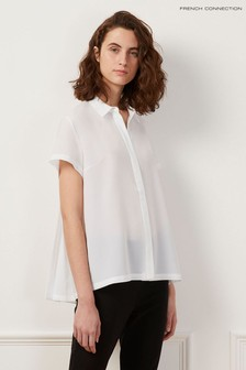 French Connection White Classic Crepe Light Shirt