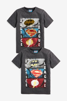 JUSTICE LEAGUE FLASH CITY RUN Toddler Kids Graphic Tee Shirt 2T 3T 4T 4 5-6 7