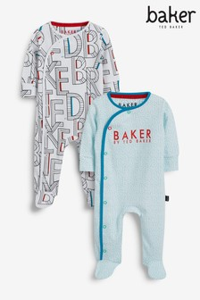 Baker by Ted Baker Two Pack Sleepsuit Set