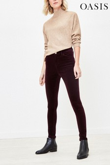 Oasis Purple Cord Skinny Jeans