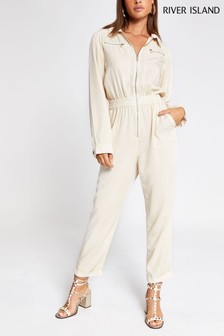River Island Bone Susie Boilersuit