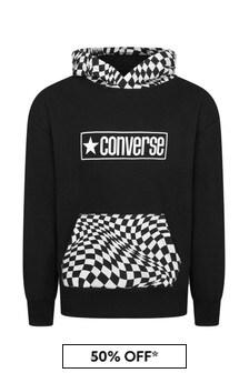 Converse Boys Black Cotton Hoody