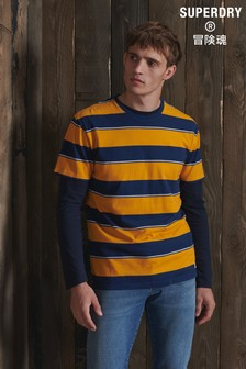 Superdry Organic Cotton R&P Box Fit Stripe T-Shirt