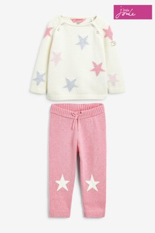 Joules Pink Top And Trousers Set
