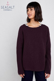Seasalt Petite Fruity II Dark Grape Jumper
