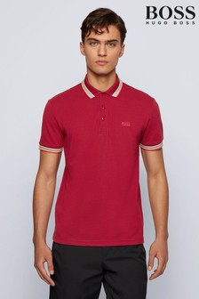 BOSS Red Tipped Paddy Poloshirt