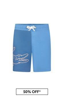 Lacoste Kids Boys Blue Swim Shorts