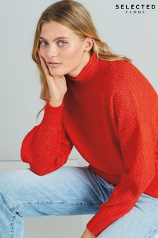 Selected Femme Orange Frill Jumper