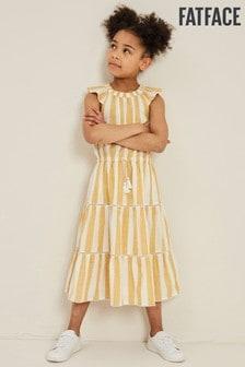 FatFace Yellow Ruby Stripe Maxi Dress