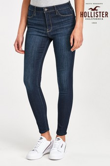 Hollister Dark Wash Blue Straight Leg Jeans