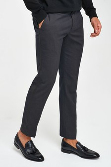 Skinny Fit Tuxedo Suit: Trousers