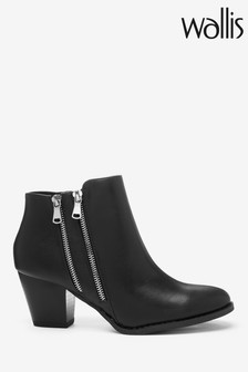 Wallis Black Asteria Double Side Zip Ankle Boots