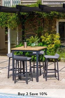 Stockholm 4 Seat Square Bar Set by LG Outdoor