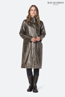 Ilse Jacobson Brown Translucent Waterproof Raincoat