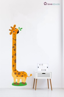 Giraffe Height Wall Sticker by Loveabode