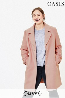 Next Pink Rever Boucle Double Breasted Trench Textured Coat Jacket 6 to 22 New