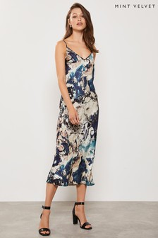 Mint Velvet Tilly Print Lace Slip Dress