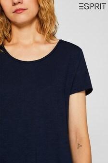 Esprit Navy Slub T-Shirt