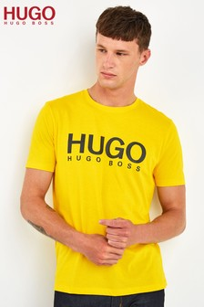 HUGO Yellow Doli Logo T-Shirt