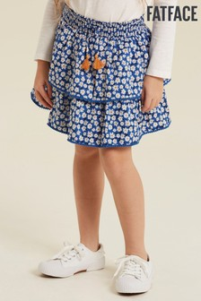 FatFace Blue Daisy Print Ra Ra Skirt