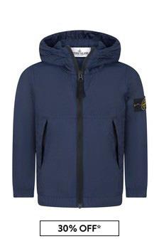 Stone Island Junior Boys Navy Jacket