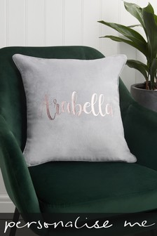 Personalised Velour Cushion