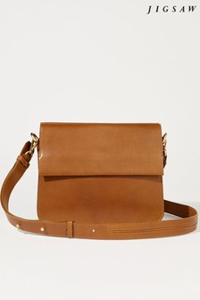 Jigsaw Tan Lottie Leather Cross Body Bag