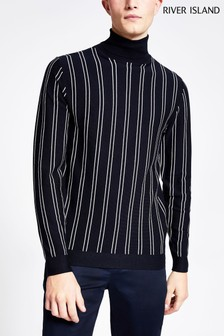 River Island Essential Stripe Roll Jumper