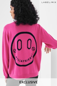 Mix/Hill & Friends Smiley Face Crew Neck Jumper