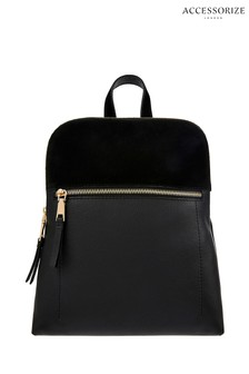 Accessorize Black Parker Mini Dome Backpack