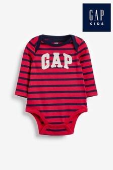 Gap Bodysuit mit Logo und Streifen, Rot