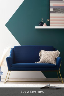 Holborn Small Sofa With Gold Legs