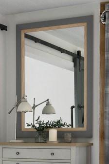 Malvern Wooden Inlay Mirror