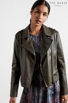 Ted Baker Idda Zip Leather Biker Jacket